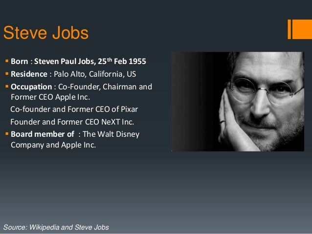 Steve jobs book about his life