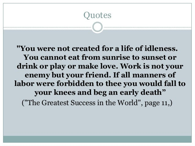 Book Review The Greatest Salesman In The World Og Mandino