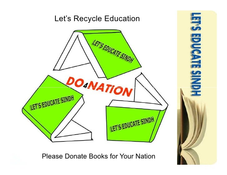 Let's Recycle Education     Please Donate Books for Your Nation