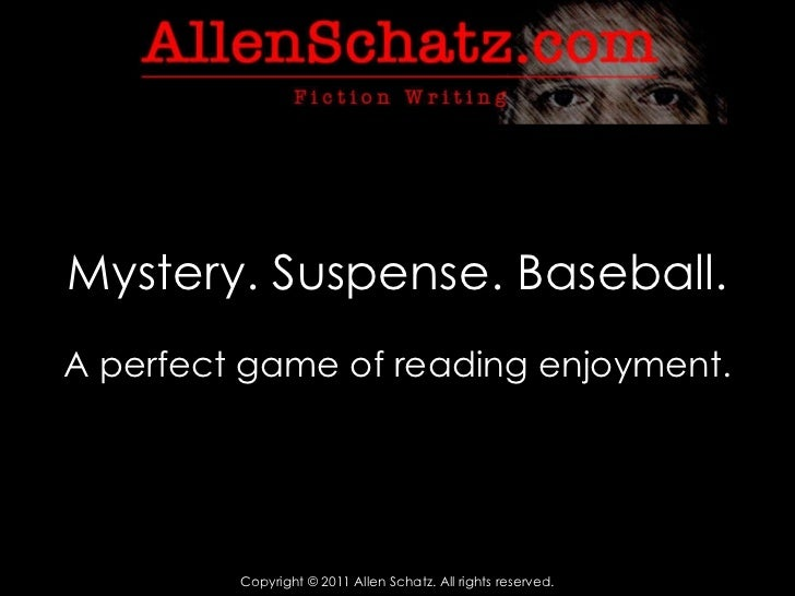 Mystery. Suspense. Baseball. A perfect game of reading enjoyment.