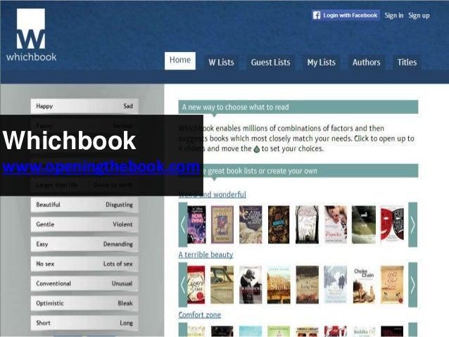 Whichbook www.openingthebook.com