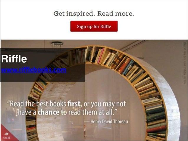 Riffle www.rifflebooks.com