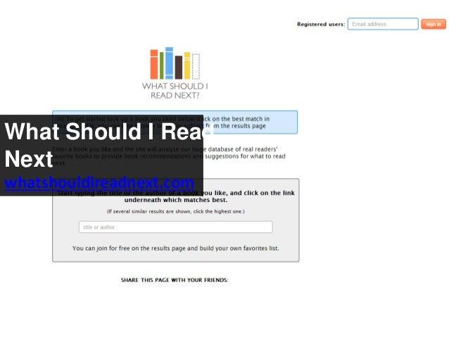 What Should I Read Next whatshouldireadnext.com