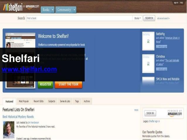 Shelfari www.shelfari.com