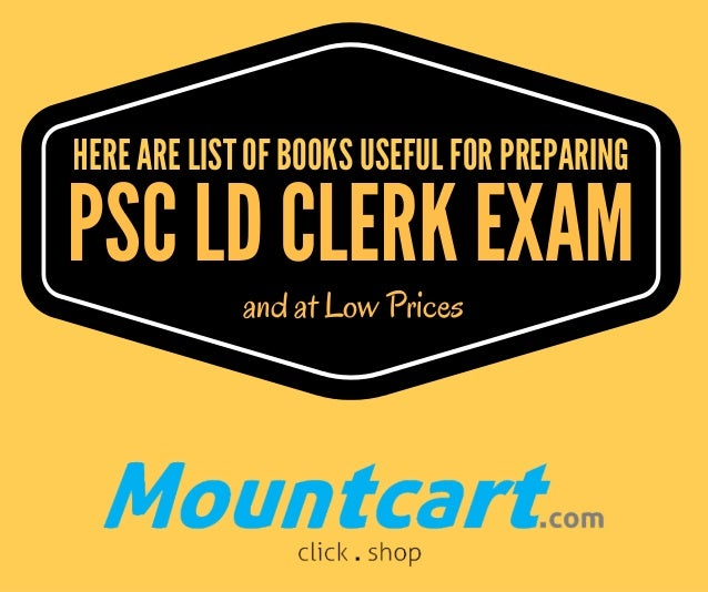 PSC LD CLERK EXAM and at Low Prices HERE ARE LIST OF BOOKS USEFUL FOR PREPARING