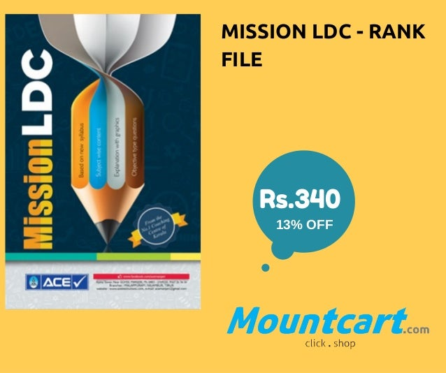 MISSION LDC - RANK FILE Rs.340 13%OFF