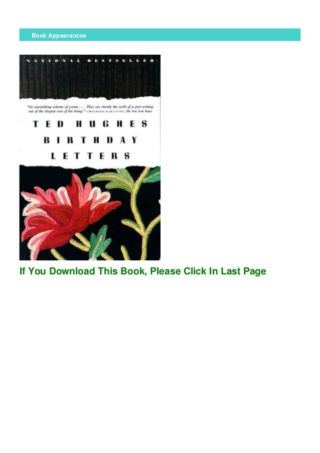 Download Birthday Letters By Ted Hughes