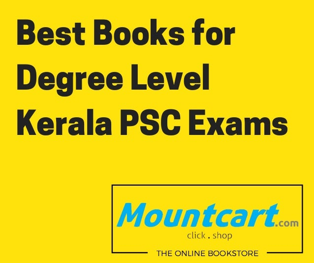 Best Books for Degree Level Kerala PSC Exams THE ONLINE BOOKSTORE