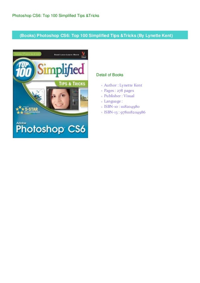 Where To Buy Adobe Photoshop Cs6 Top 100 Simplified Tips And Tricks