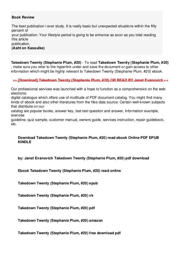 Takedown Twenty PDF Free download