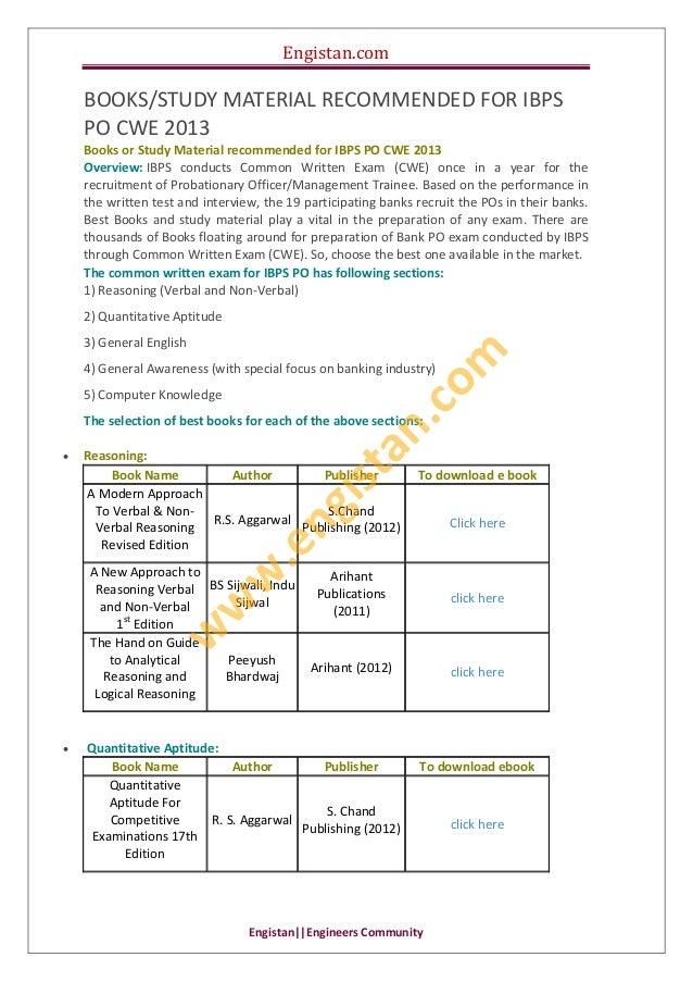 Engistan.com  Engistan  EngineersCommunity BOOKS/STUDYMATERIALRECOMMENDEDFORIBPS POCWE2013 BooksorStudyMate...