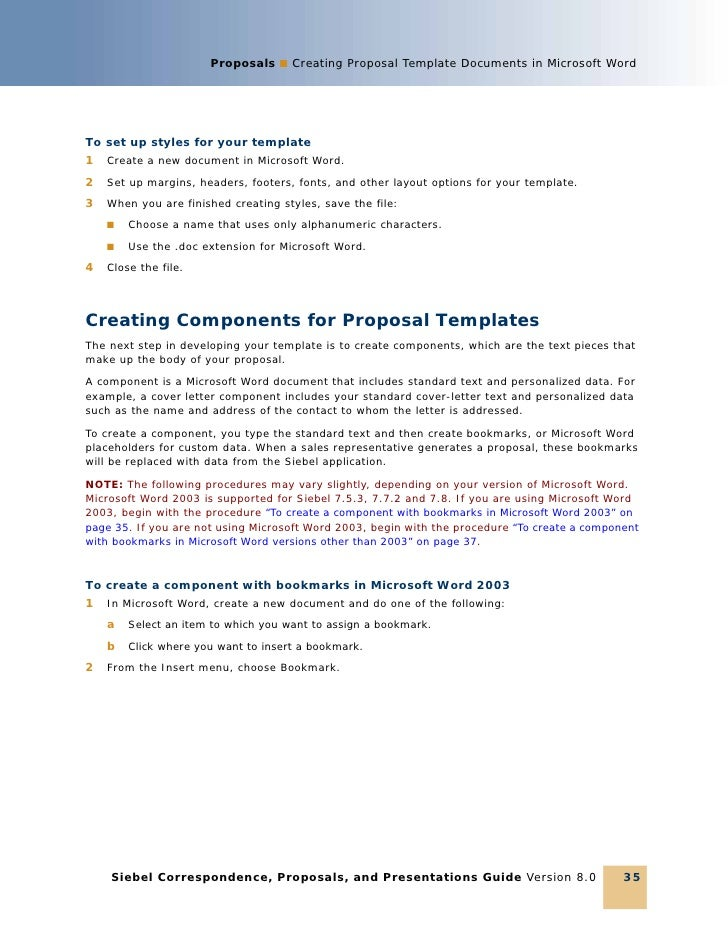 proposals creating proposal template documents in microsoft word