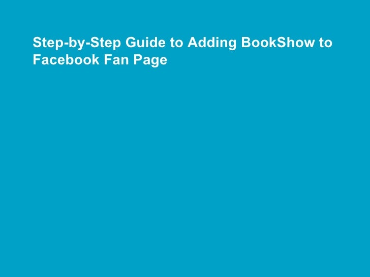 Step-by-Step Guide to Adding BookShow to Facebook Fan Page
