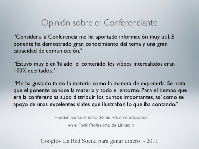 Entrevista RadioGoogle+ La Red Social para ganar dinero - 2011