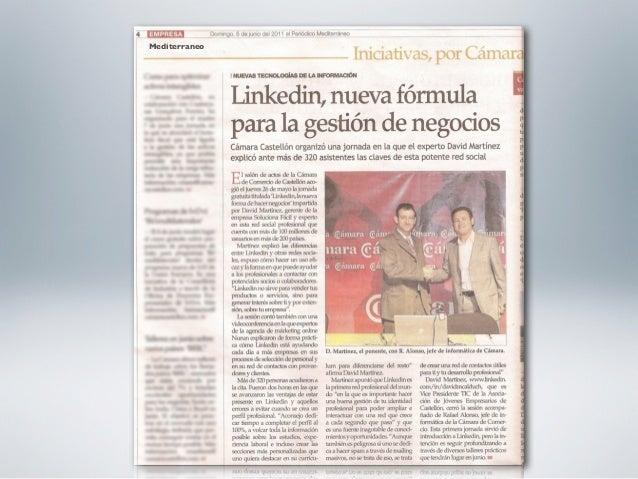 Talleres Prácticos de LinkedIn              para EmpresariosComo crear un perfil eficaz en LinkedIn - 2011