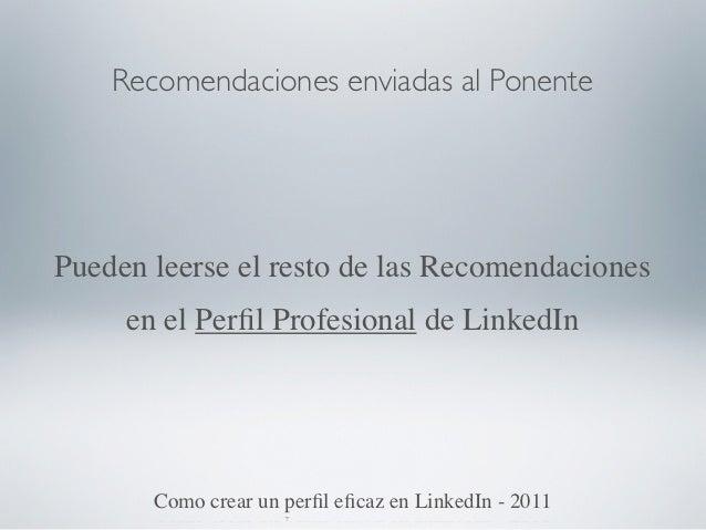 Aforo completo                  ConferenciaLinkedIn la Red Profesional por Excelencia - 2011