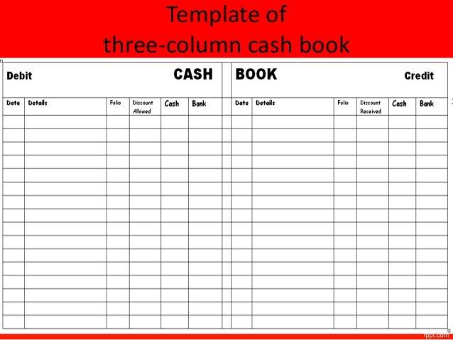 cash ledger template