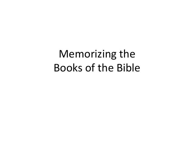 Memorizing the Books of the Bible