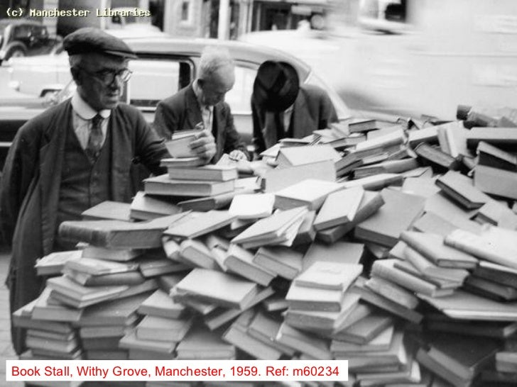 Book Stall, Withy Grove, Manchester, 1959. Ref: m60234