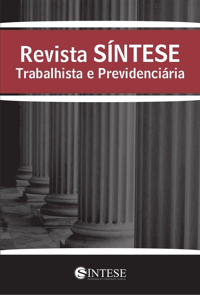 Revista SÍNTESE Trabalhista e Previdenciária