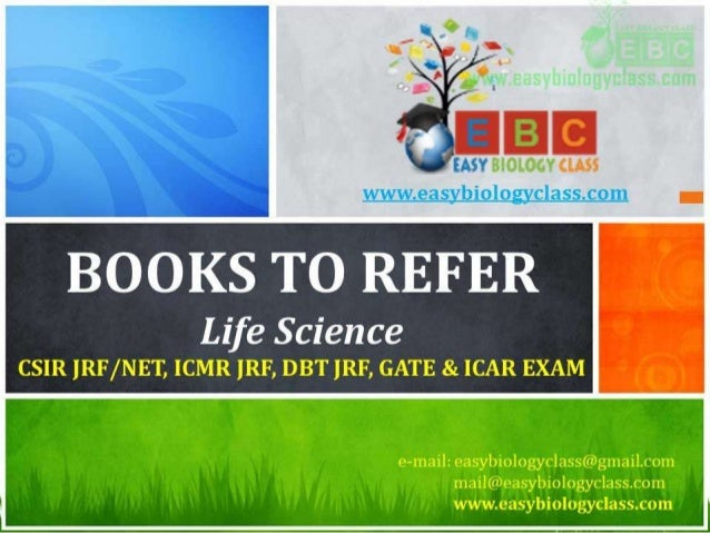 Books to refer for csirugc jrf net life science examination icmr jr fandeluxe Gallery