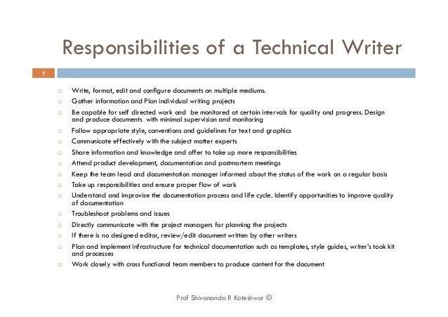 The writer summary