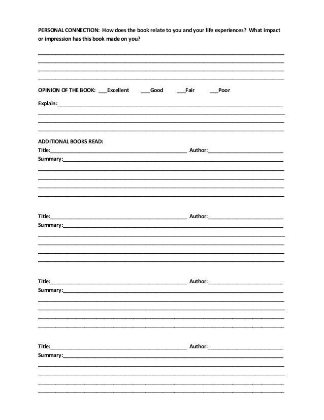 school book report