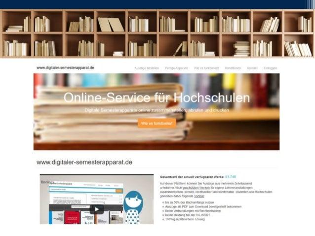 • Technisch erprobte und komfortabel zu nutzende Lösung, die bereits seit mehreren Semestern an verschiedenen Hochschulen ...