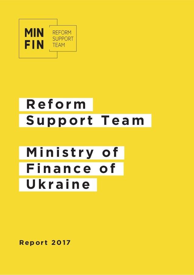 Reform Support Team Ministry of Finance of Ukraine Report 2017