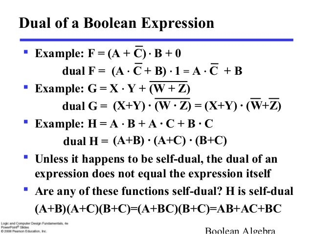 example f a c b... C- Boolean Function Examples