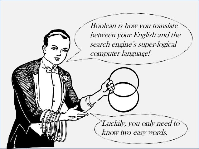 boolean logic  how to talk to search engines in their own