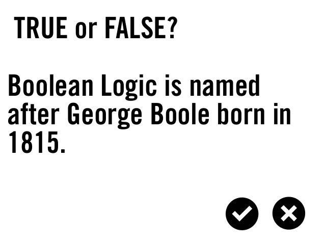 boolean logic presentation