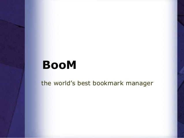 BooMthe world's best bookmark manager