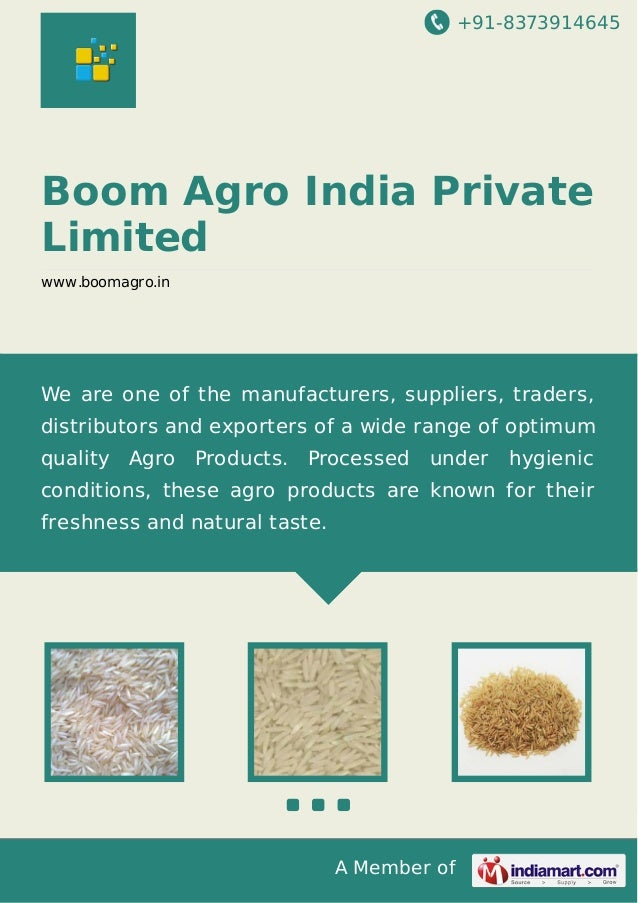 +91-8373914645  Boom Agro India Private Limited www.boomagro.in  We are one of the manufacturers, suppliers, traders, dist...
