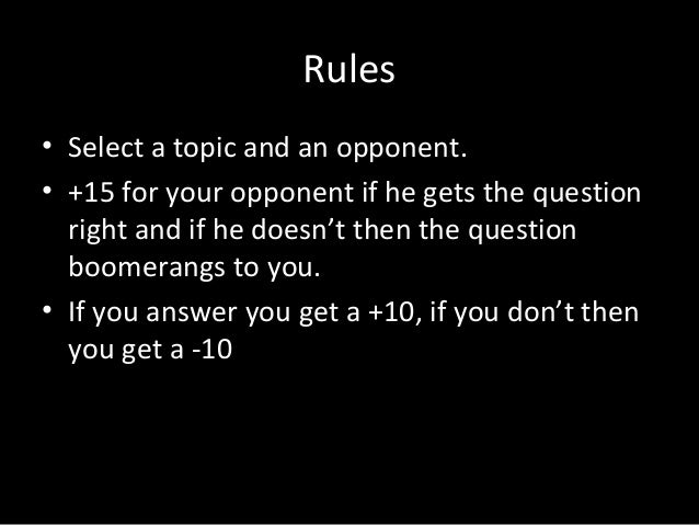 Boomerang (The 5th round of the Bookworm Quiz) Slide 2
