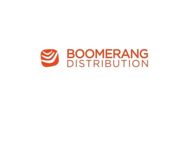 One year at Boomerang • 25 million machine addressing • 15 million manual enveloping • 6 million machine enveloping • ...