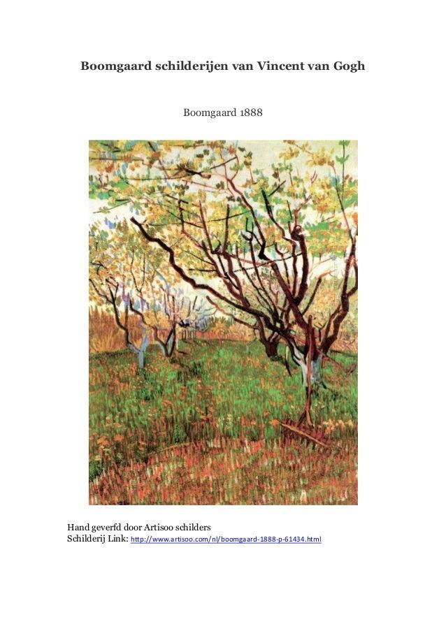 Boomgaard schilderijen van Vincent van Gogh  Boomgaard 1888  Hand geverfd door Artisoo schilders Schilderij Link: http://w...