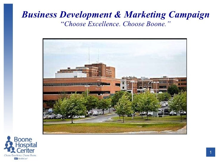 "Business Development & Marketing Campaign "" Choose Excellence. Choose Boone."""