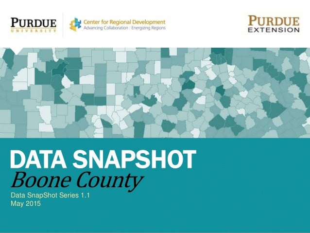 Data SnapShot Series 1.1 May 2015 DATA SNAPSHOT Boone County