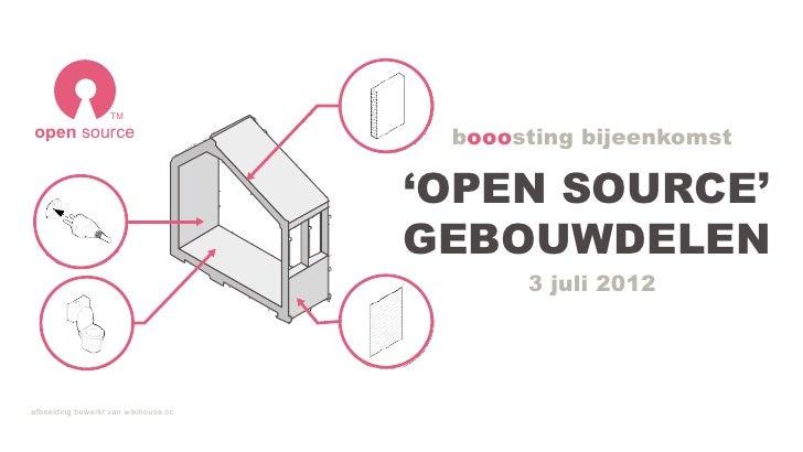 TMopen source                            booosting bijeenkomst                                      'OPEN SOURCE'         ...