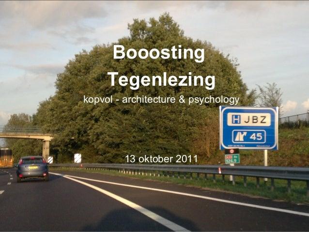 Jeroen Bosch Ziekenhuis Booosting Tegenlezing kopvol - architecture & psychology 13 oktober 2011