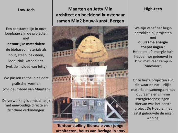 Low-tech                     Maarten en Jetty Min                      High-tech                                architect ...