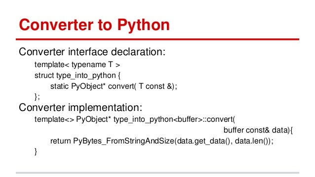 Boost Python: C++ and Python Integration