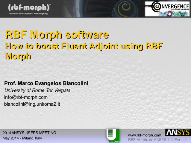 How to Boost ANSYS Fluent Adjoint Using RBF Morph Software