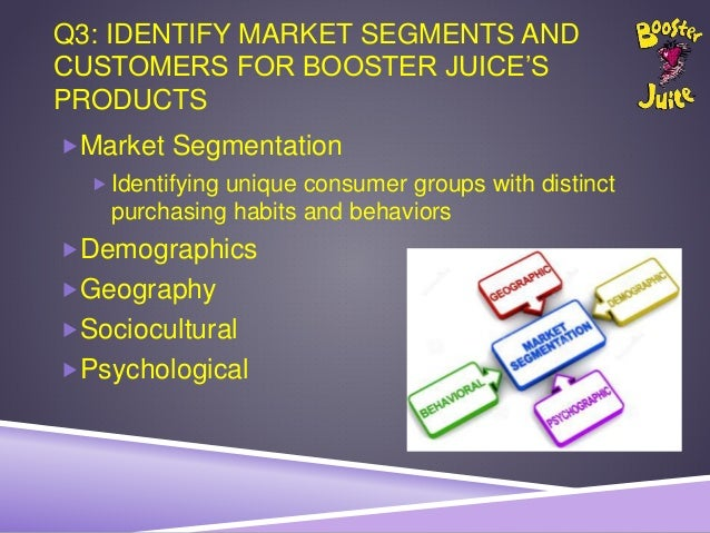 geographic segmentation for boost juice Alibaba group offerings.