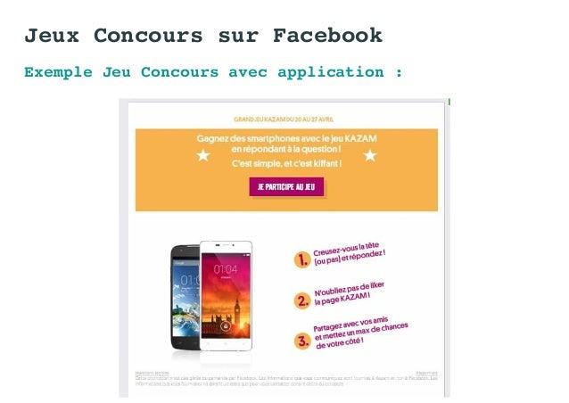 Exemple Jeu Concours avec application : Jeux Concours sur Facebook