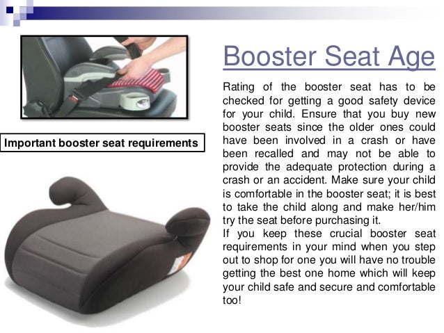 Height Requirement For Booster Seat In Car