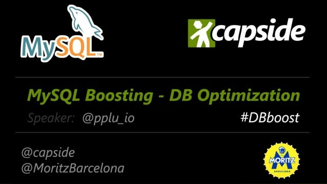 """MySQL Boosting - DB Best Practices by ..."