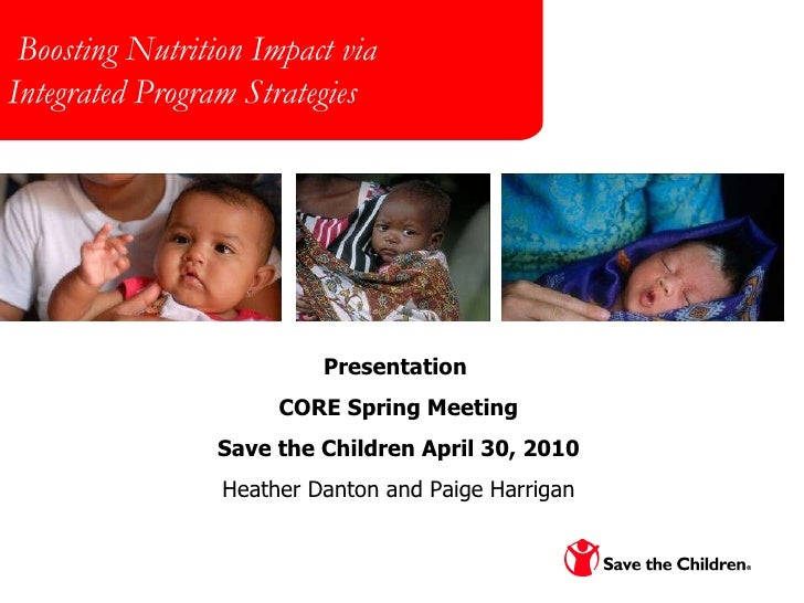 The PepsiCo Foundation Meeting March 31, 2008 Boosting Nutrition Impact via  Integrated Program Strategies Presentation  C...