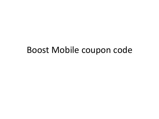Boost Mobile coupon code